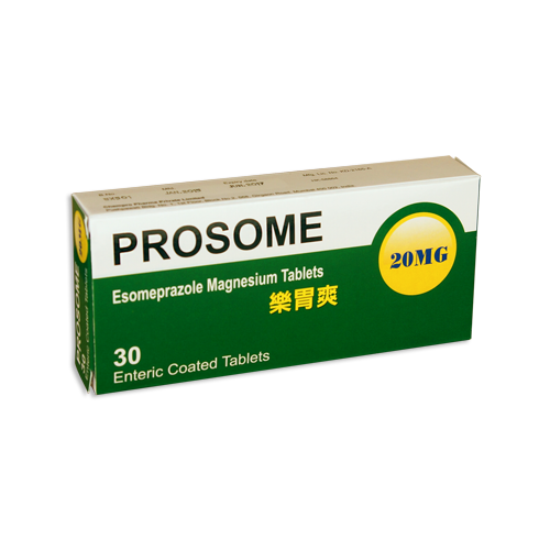 PROSOME ENTERIC COATED TABLETS 20MG